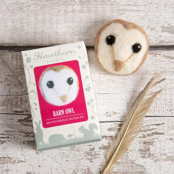 Barn Owl Brooch Felting Kit