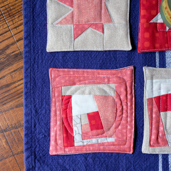 Improv Quilted Coasters