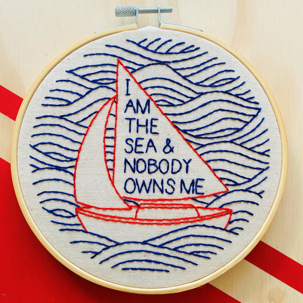 I am the Sea Embroidery Kit