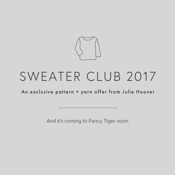 Julie Hoover Sweater Club 2017 Trunk Show