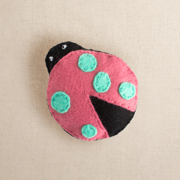 Addie the Unusual Lady Bug Felt Stitching Kit