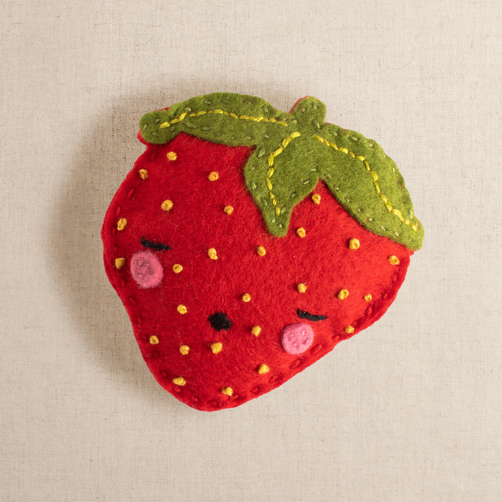Sam the Sleepy Strawberry Felt Stitching Kit