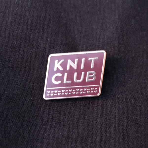 Special Edition Knit Club Enamel Pin