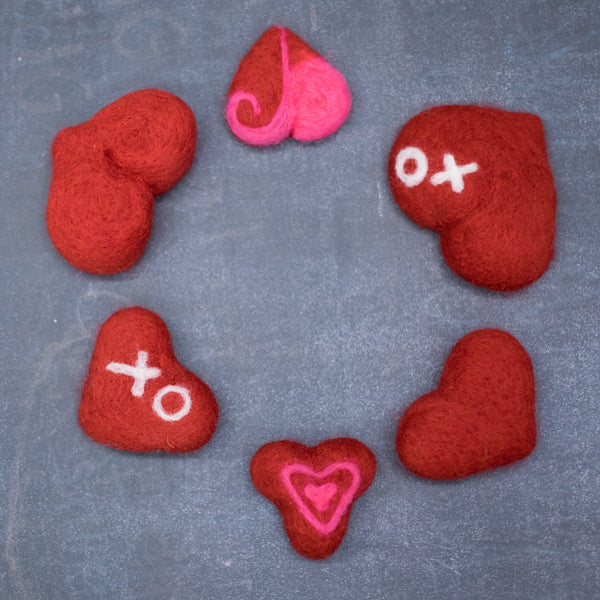 Needlefelting 101: Hearts