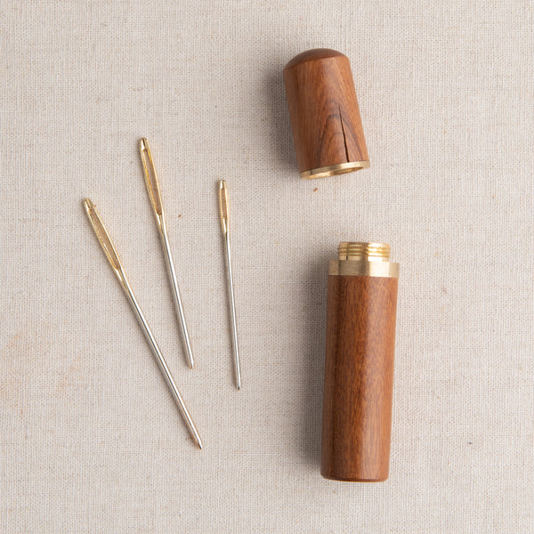 Wooden Tapestry Needle Case Sandalwood