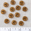 Antique Gold 2 Hole Metal Button: 11mm, 15mm