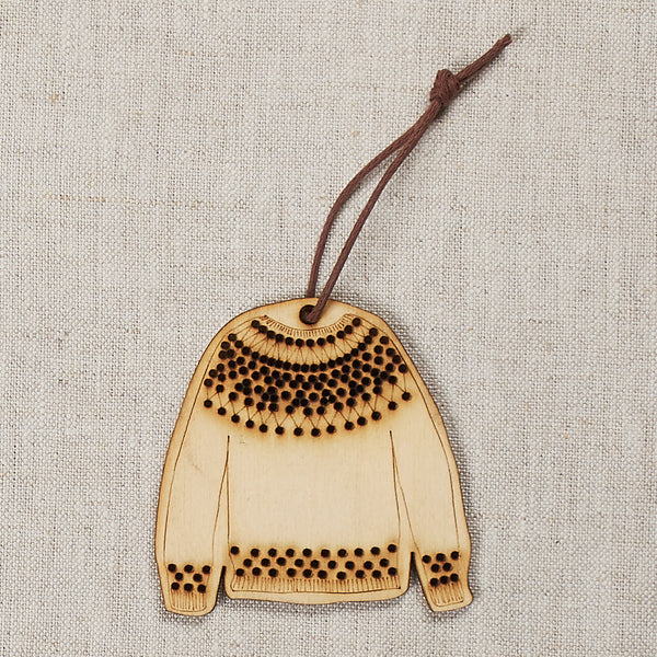 DIY Embroidered Sweater Ornament Blank