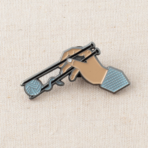 Knitting Noodles Enamel Pin