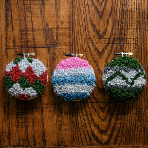 Punch Needle 101: Holiday Ornaments