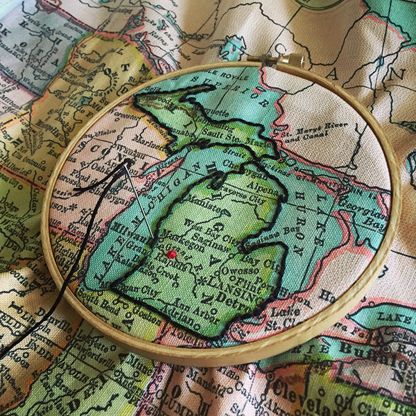 US Map Embroidery Sampler with Robert Mahar