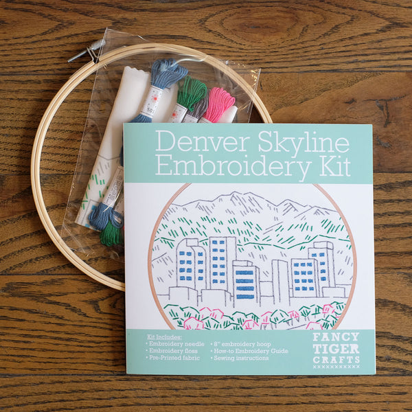 Denver Skyline Embroidery Kit