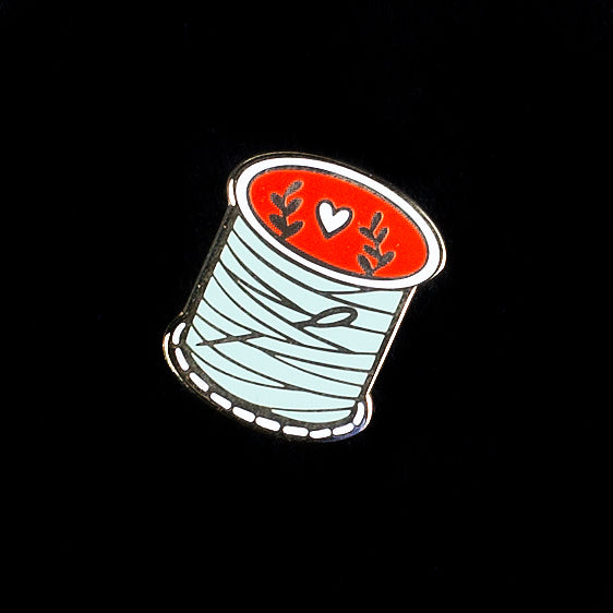 Sewing Thread Mint Enamel Pin