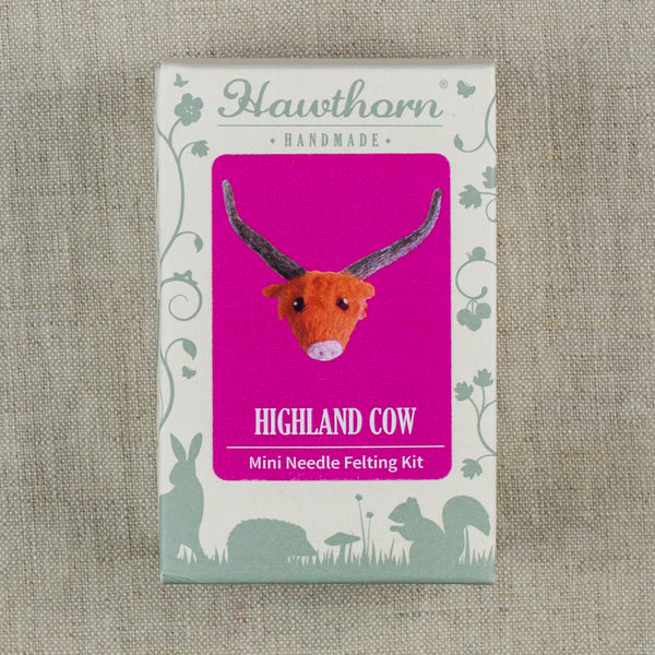 Highland Cow Brooch Felting Kit