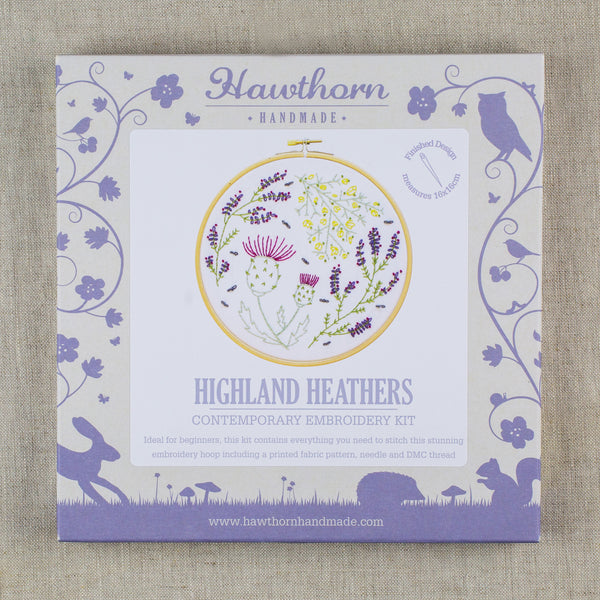 Highland Heathers Contemporary Embroidery Kit