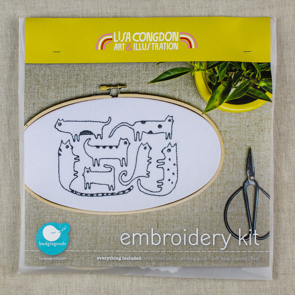 Cats Embroidery Kit
