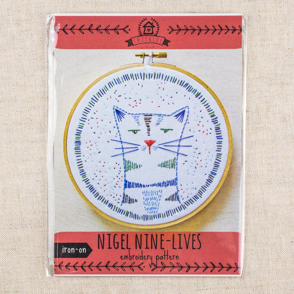 Nigel Nine Lives Embroidery Pattern