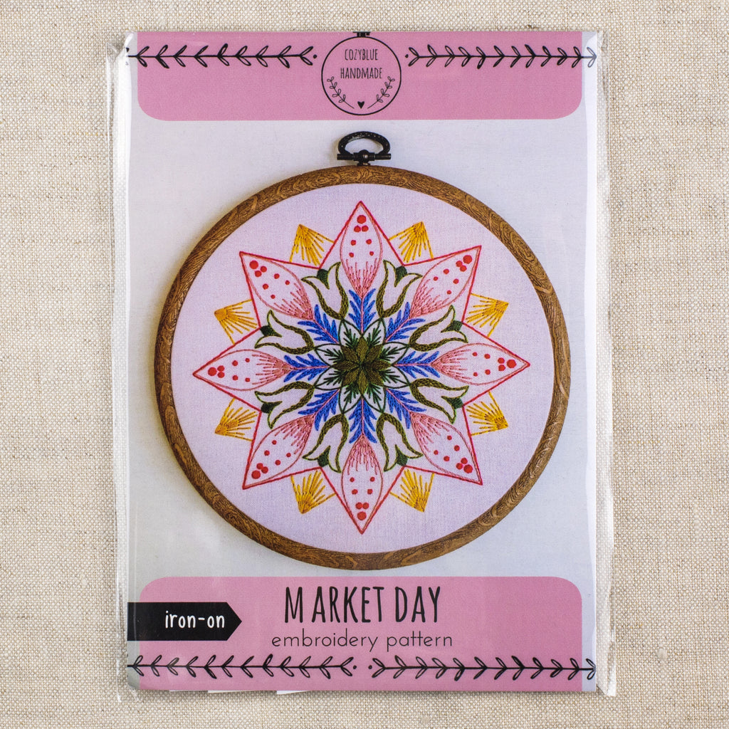Market Day Embroidery Pattern