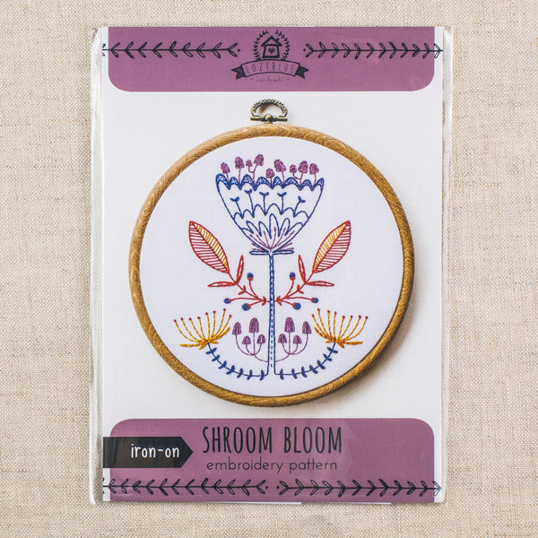 Shroom Bloom Embroidery Pattern