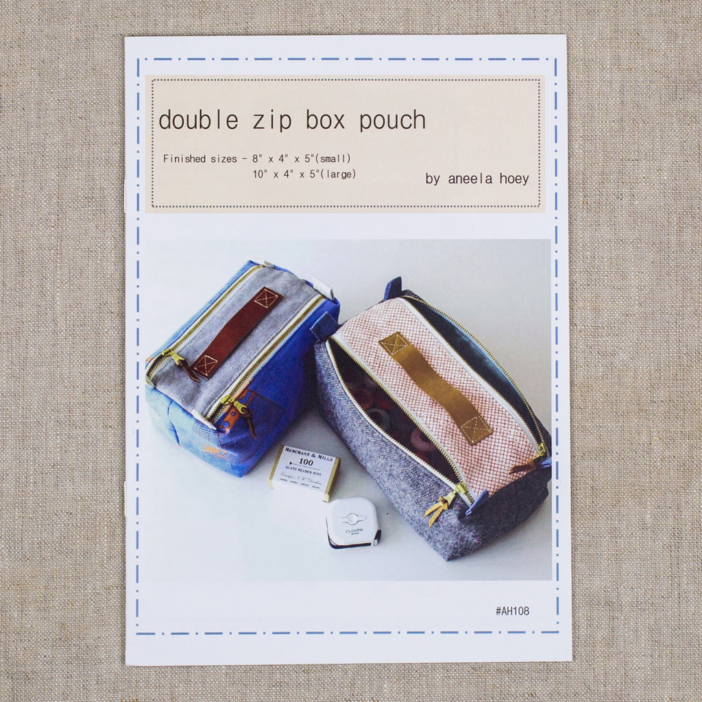 Double Zip Box Pouch