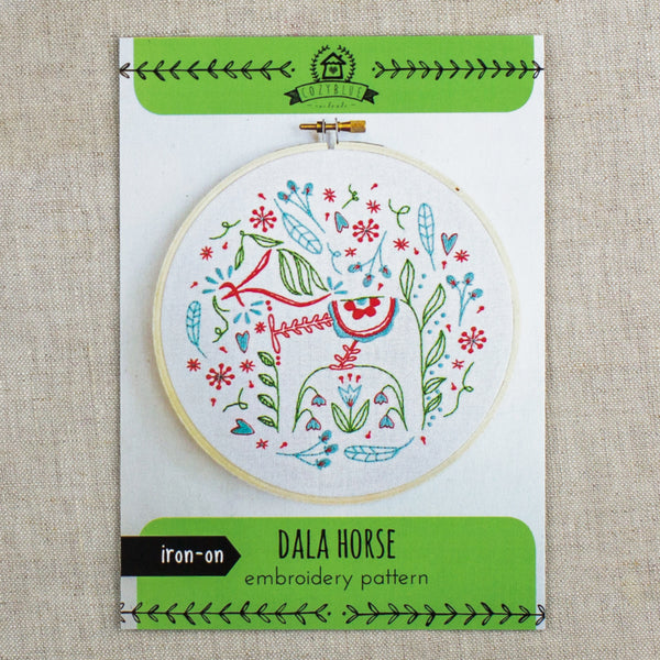 Dala Horse Embroidery Pattern