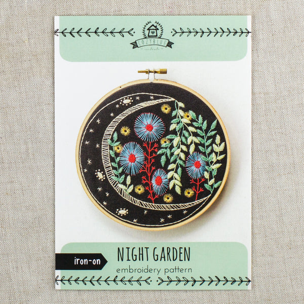 Night Garden Embroidery Pattern
