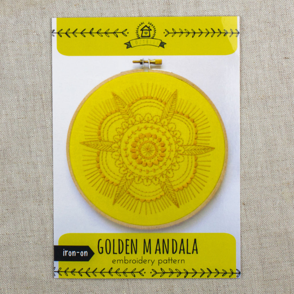 Golden Mandala Embroidery Pattern