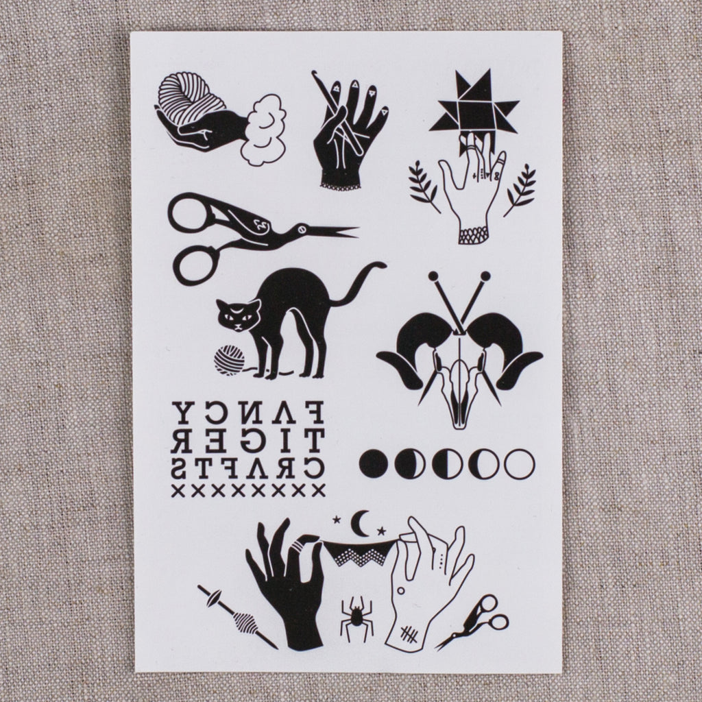 Fancy Tiger Temporary Tattoos