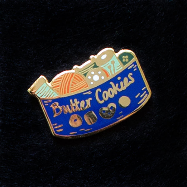Butter Cookie Sewing Kit Enamel Pin