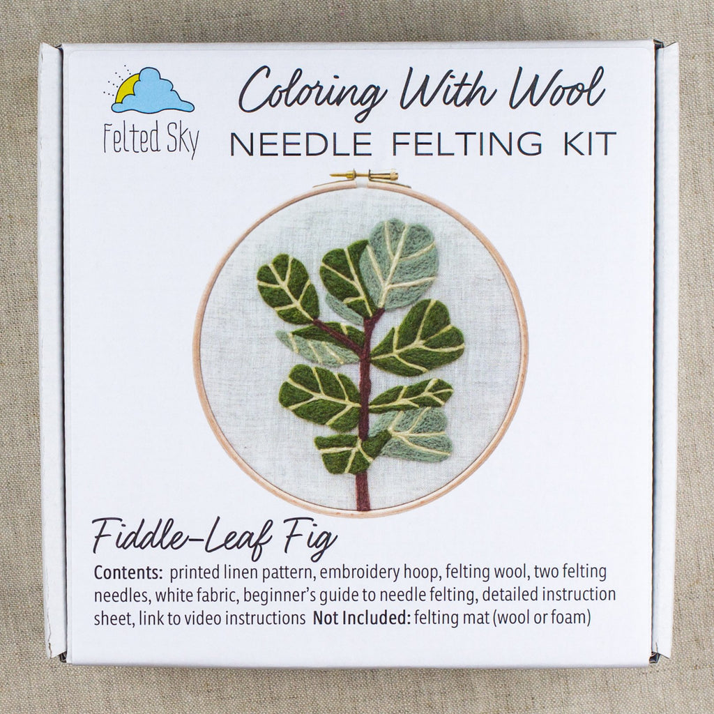 Fiddle-Leaf Fig Needle Felting Kit