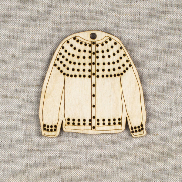 DIY Cardigan Ornament Blank