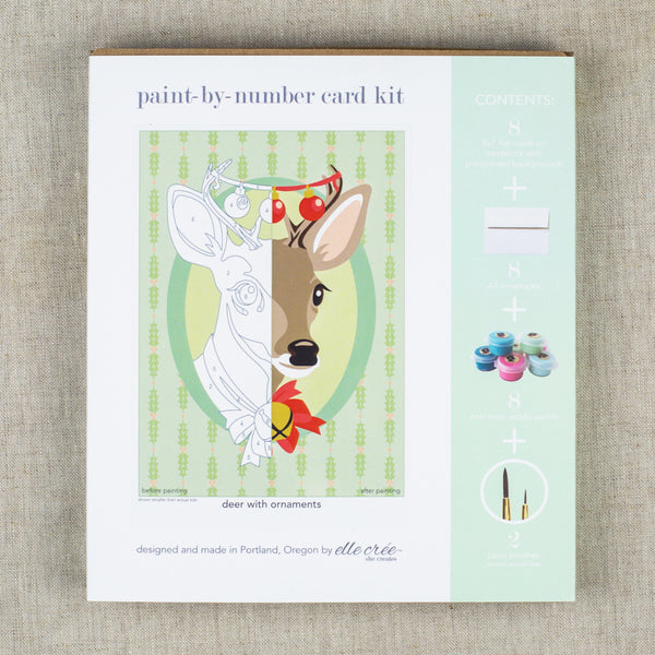 Paint-by-Number Card Kit