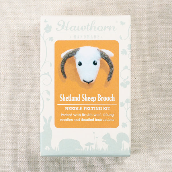 Shetland Sheep Brooch Felting Kit