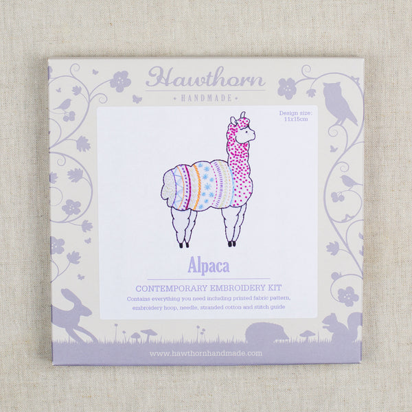 Alpaca Contemporary Embroidery Kit