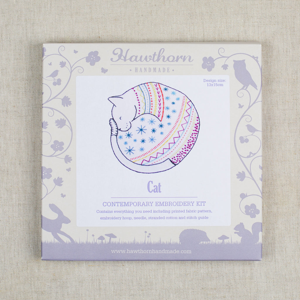 Cat Contemporary Embroidery Kit