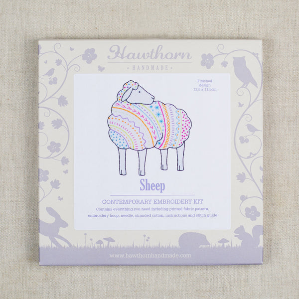 Sheep Contemporary Embroidery Kit
