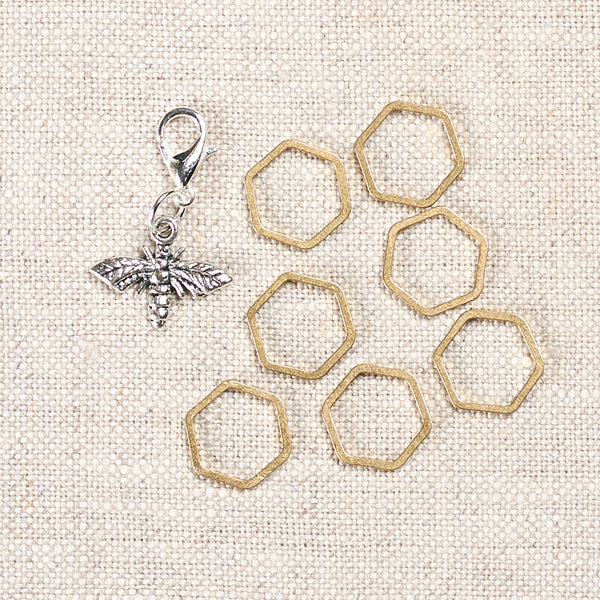 Honeycomb Stitch Markers