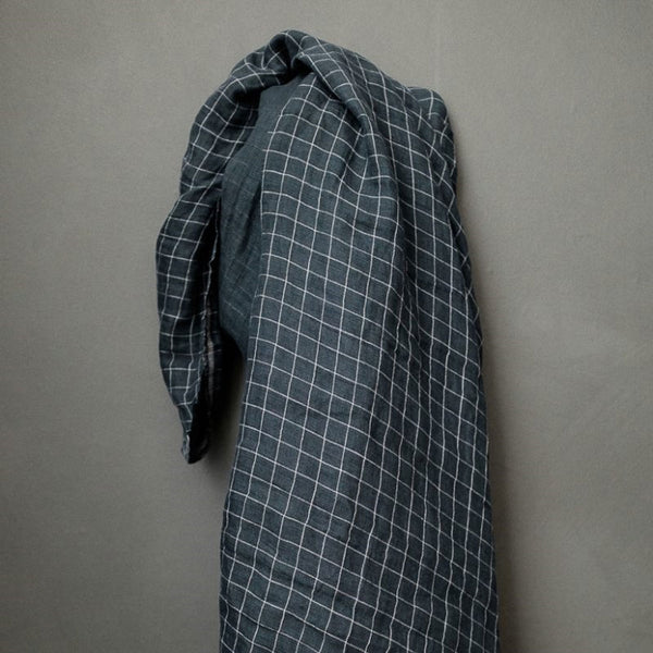 Jacob's Check Linen Double Gauze