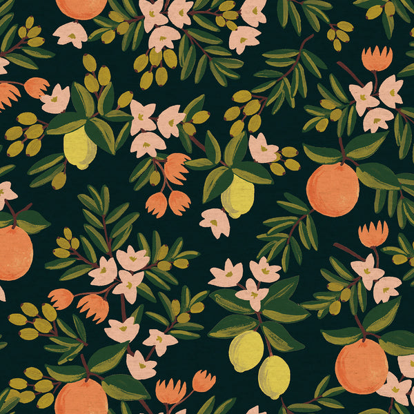 Citrus Floral Canvas