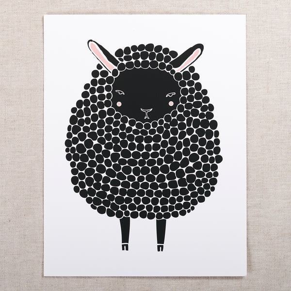 8x10 Sheep Print — Black