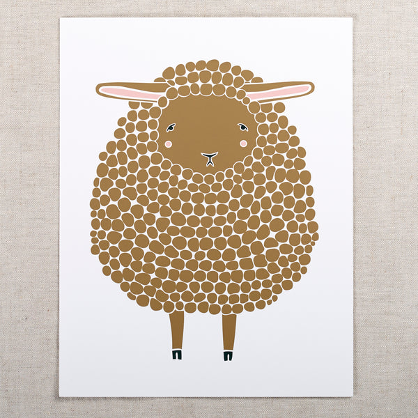 8x10 Sheep Print — Brown