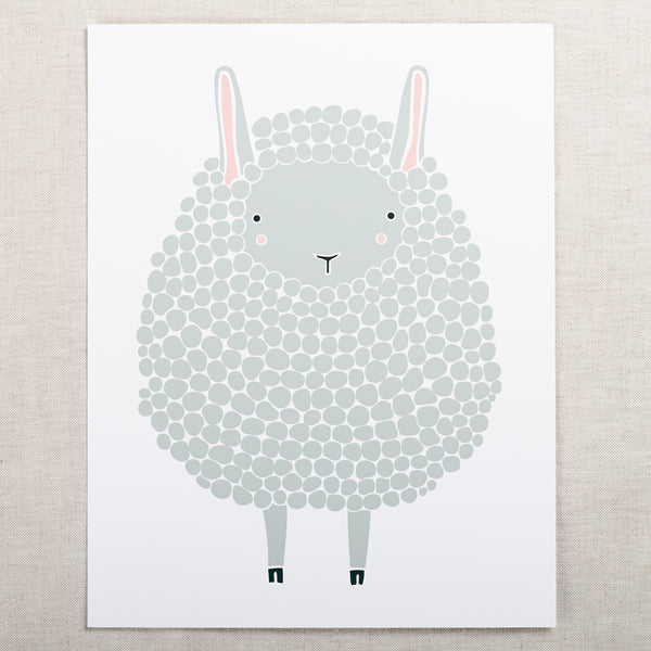 8x10 Sheep Print — Dark Grey