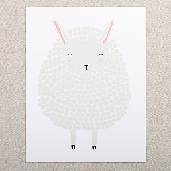 8x10 Sheep Print — Grey