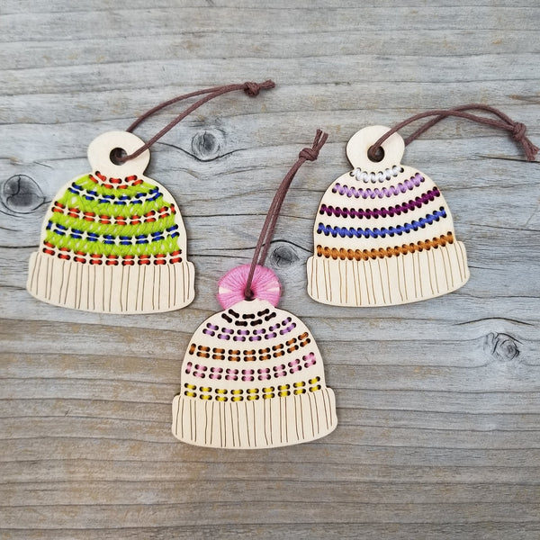 DIY Striped Hat Ornament Blank