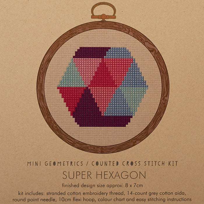 Super Hexagon Cross Stitch Kit