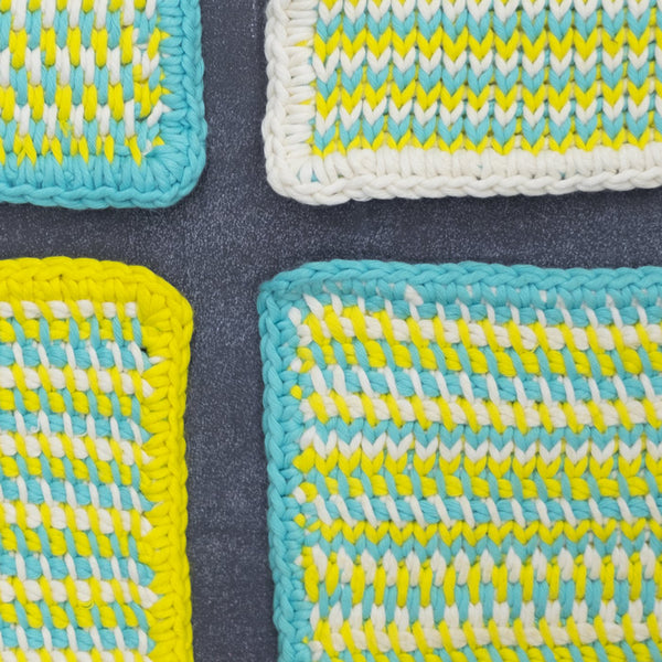 Tunisian Crochet 101: Washcloths