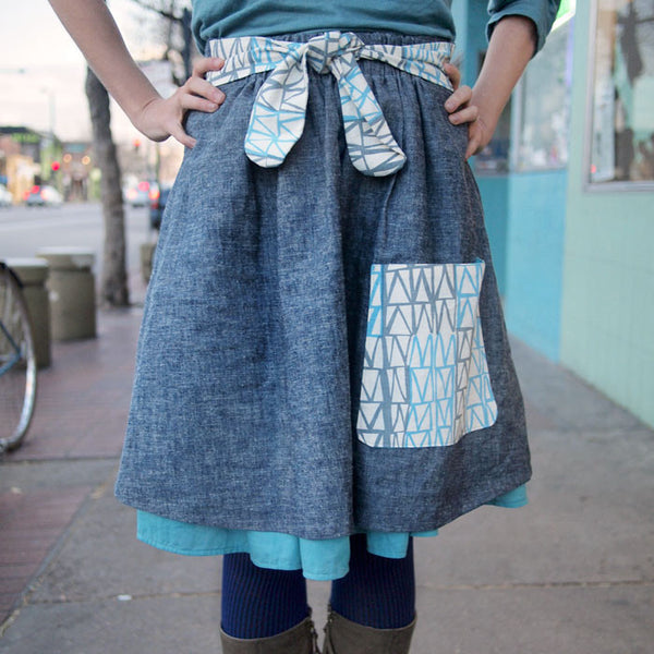 Ysolda's Pocket & Ties Skirt