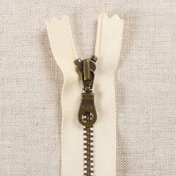 "6"" Antique Brass Donut Pull Zippers"