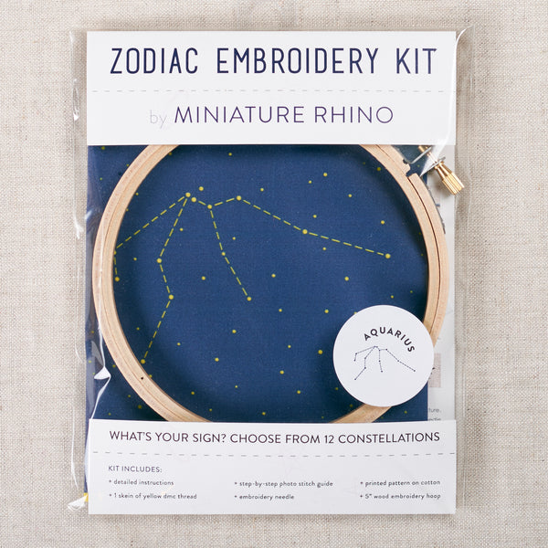 Zodiac Embroidery Kit