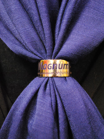 8 Magnum_CustomCorporate_Logo_Scarf_Charm_Ring_Bamboo Pashmina_by_Alesia_C_ELogo.NET