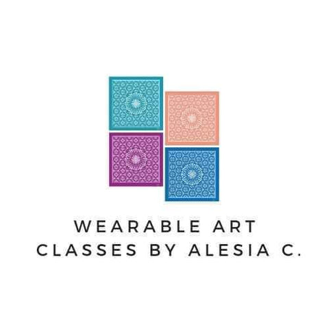 Wearable Art Classes by Chicago fashion designer Alesia C. Social Women Art Party in Buffalo Grove Illinois